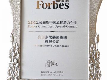 2013年福布斯中國最具潛力企業-唯一國內裝修企業