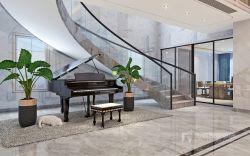 曦城別墅1400平現代風格樓梯間裝修圖