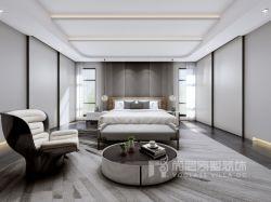 曦城別墅1400平現代風格臥室茶幾裝修設計圖