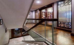 中式風格樓梯裝修效果圖 2019別墅中式風格樓梯裝修效果圖