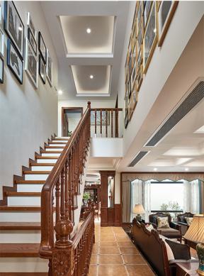美式風格樓梯裝修效果圖 2019美式風格樓梯裝修圖片