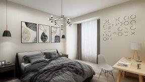 2019现代风格卧室家装 2019现代风格卧室图片 现代风格卧室背景墙效果图