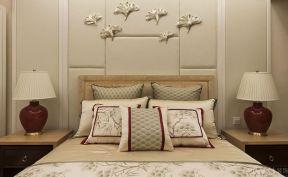 简约卧室床头背景墙 中式卧室床头背景图片