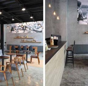 歐式復古風160平米咖啡廳吊頂裝修效果圖-每日推薦