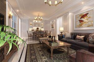 国信世家美式90平三居室装修案例