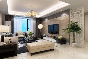 盛世家园现代简约140平三居室装修案例