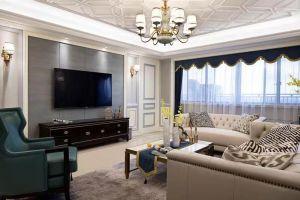 天元世家美式138平三居室装修案例
