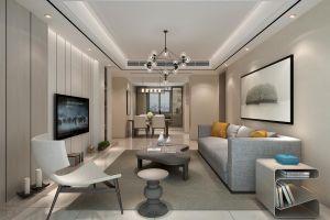 孔雀城现代简约138平三居室装修案例