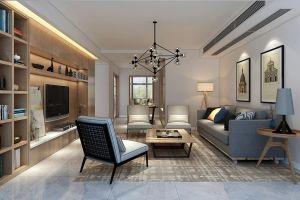 国信世家现代简约160平四居室装修案例
