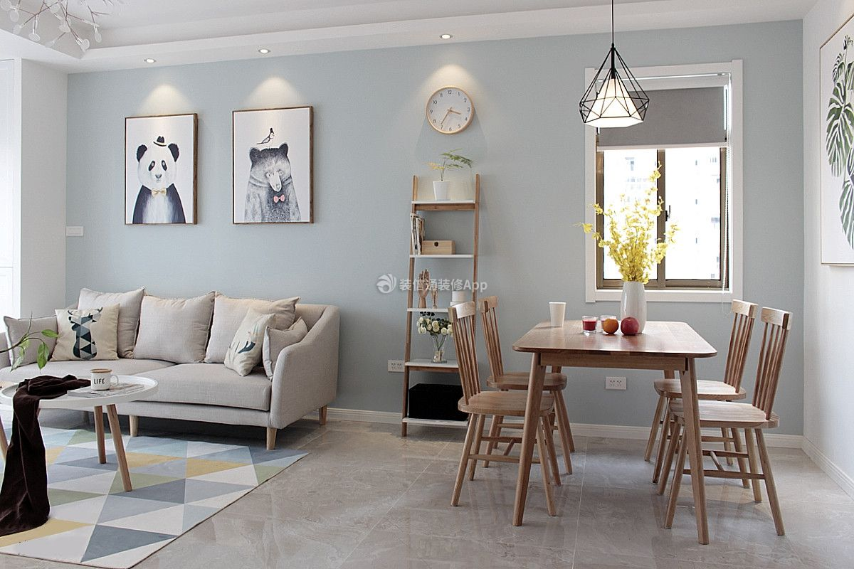 渝中名郡两居室118平米北欧风格装修效果图