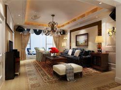 混搭風格89平米兩居室客廳裝修效果圖片大全