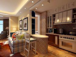 地中海風格三居室126平米廚房裝修效果圖片大全