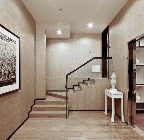 龍湖悠山郡260平米別墅新中式樓梯間設計圖-每日推薦