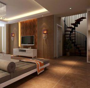 現代風格138平米三居室樓梯裝修效果圖片賞析-每日推薦