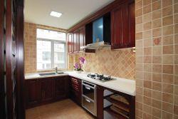 中式風格125平米三居室廚房裝修效果圖片