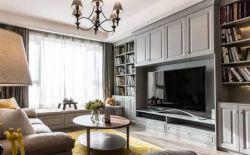 三居室110平現代風格客廳裝修效果圖片大全