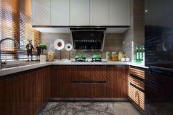 120平方輕奢風格廚房設計效果圖片