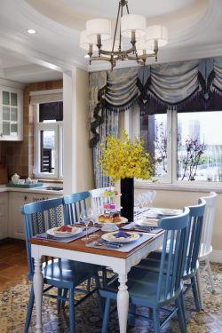 現代風格三居室120平餐廳裝修效果圖片大全