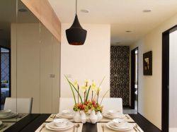 恒大雅苑93平二居現代風格餐廳裝修設計圖
