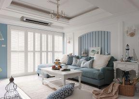 现代美式客厅电视背景墙效果图 现代美式客厅吊顶