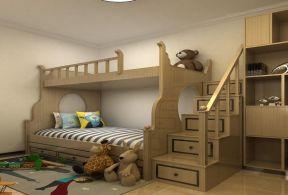 中铁尚城三居95平简欧风格儿童房高低床设计图图片