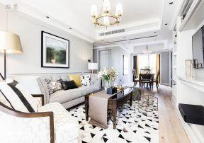 客廳地毯圖片大全 客廳地毯效果圖 美式客廳設計圖 美式客廳裝飾圖