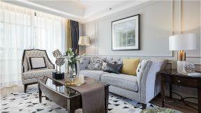 美式客廳沙發組合 沙發背景墻造型圖