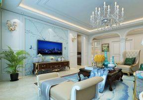 欧式客厅装修电视墙效果图 欧式客厅影视墙装修效果图