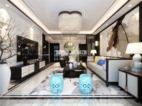 新中式風格客廳裝修圖 新中式風格客廳背景墻