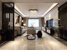 客廳水晶燈具圖片大全 客廳水晶燈裝修效果圖  新中式風格客廳設計