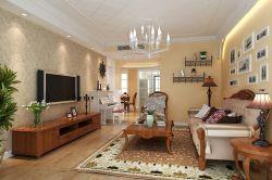 田園風格三居室客廳110平客廳裝修效果圖片大全