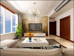 首開國風瑯樾四居140平現代風格客廳裝修設計效果圖