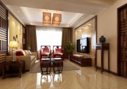 中式風格三居室110平客廳裝修效果圖片大全