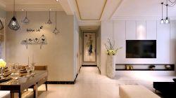 國安悅府130平簡約風格走廊吊頂設計圖片欣賞