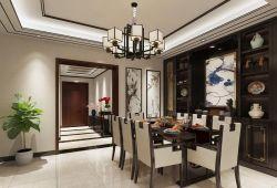 遂寧大院背書202平新中式風格餐廳壁柜設計圖