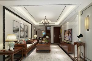 桂苑120平米三居新中式风格装修效果图