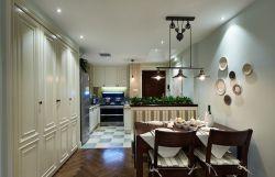 美式風格小戶型家庭餐廳燈具裝潢裝修圖片
