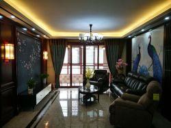 蚌埠海亮天御四居140平中式風客廳裝修效果圖