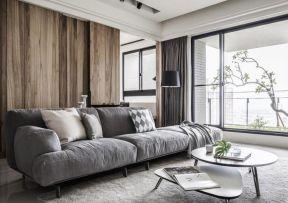 灰色沙發背景墻 灰色沙發背景墻效果圖 雙人沙發圖片大全