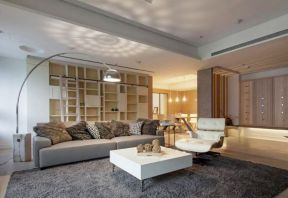 客廳地毯效果圖 白色茶幾圖片