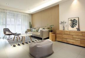 懶人沙發效果圖 混搭客廳裝修效果圖  混搭客廳效果圖