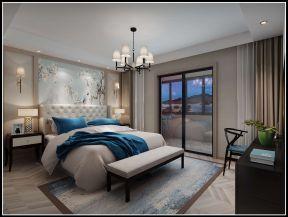新中式臥室裝修效果圖大全2019圖片 臥室床尾凳效果圖