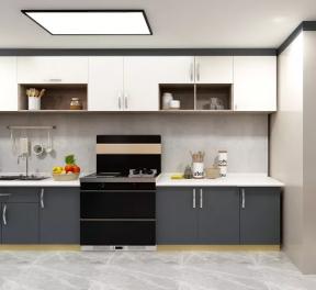一字型厨房装修效果图 一字型厨房设计