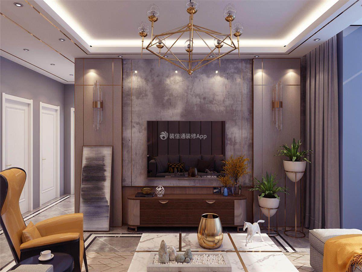 中冶上河湾港式轻奢风格142平4居室装修效果图