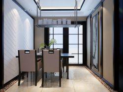 桃都國際城135平米新中式餐廳裝修效果圖