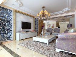 三居室歐式風格110平客廳裝修效果圖片大全