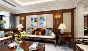 新中式客廳裝修效果圖 新中式客廳背景墻裝修效果圖
