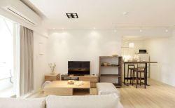 通瑞嘉苑90㎡現代簡約三居室客廳吊頂裝修效果圖