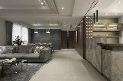 130平米三居室中式走廊吊頂裝修設計效果圖