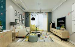 現代簡約風格二居94平客廳裝修圖片欣賞